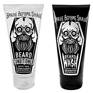 GRAVE BEFORE SHAVE Beard Wash & Beard Conditioner Pack 6