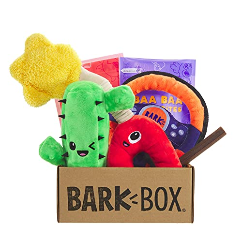 BarkBox Monthly Subscription Box, Dog Chew Toys, All Natural Dog Treats, Dental Chews, Dog Supplies Themed Monthly Box, Small Dog (0-20lb)