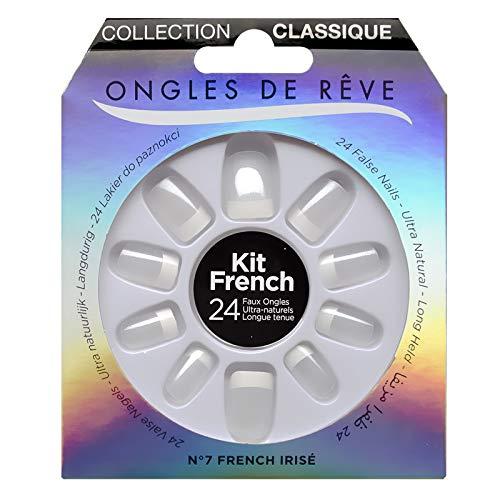 KIT FAUX ONGLES ONGLES DE REVE - N°007 FRENCH IRISE