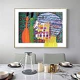DCLZYF Arte de Pared Abstracto nórdico Lienzo Pintura Obra de Arte Pintura Figura Colorida póster Imagen decoración del hogar-50x60cm (sin Marco)