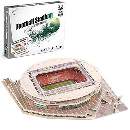Georgie Porgy 3D Football Stadium Puzzle Building Toys Construction Sets (Emirates Stadium 105pcs)
