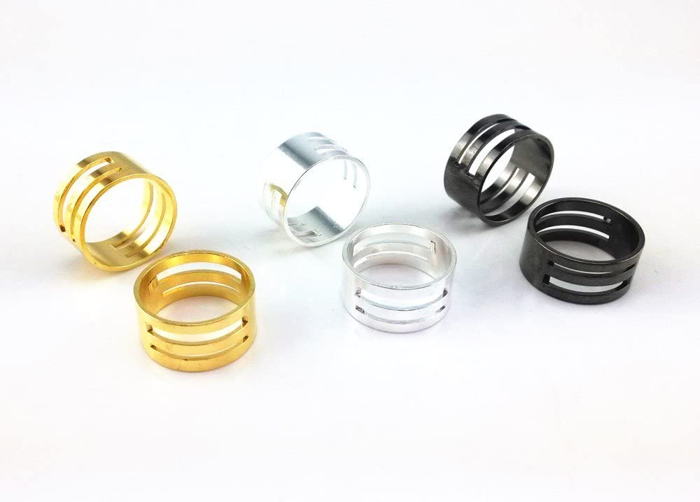 Honbay 6pcs Gold Silver Gun Black Challenge the lowest price of Japan Ring Closing Ranking TOP19 Jump and Opening