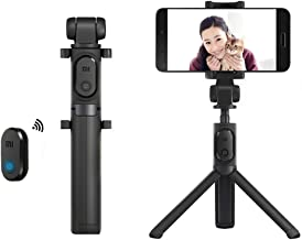 EdwayBuy Xiaomi Mobile Selfie Stick Bluetooth con Telecomando Senza Fili, 360 ° Rotazione Selfie Stick treppiede per Schermo da 3,5-6 Pollici, iPhone, Smasung, Xiaomi, Huawei ECC