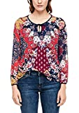 s.Oliver RED Label Damen Mesh-Shirt mit Muster-Print Navy AOP Flowers 44
