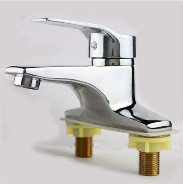 Oudan Basin Mixer Tap Bathroom Sink Faucet 2-hole basin faucet hot and cold faucet 3-hole basin faucet,C (color   B)