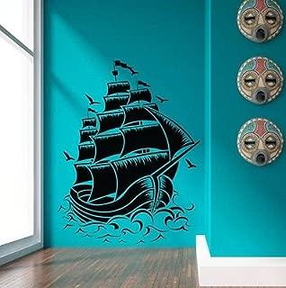 Nautical Sail Boat Pirate Ship Wall Decal Sticker Room Decor Vinyl Wall Art