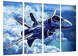 Cuadro Fotográfico Avion de Guerra, Caza Supersonico Tamaño total: 131 x 62 cm XXL