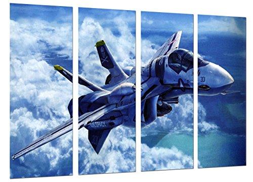 Poster Fotográfico Avion de Guerra, Caza Supersonico Tamaño total: 131 x 62 cm XXL
