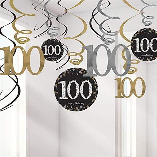 Party-Dekoration zum 100. Geburtstag, Hängegirlanden