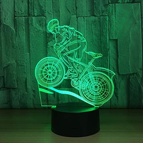 wangZJ Lámpara de ilusión 3d / Luz de noche led 3d /...