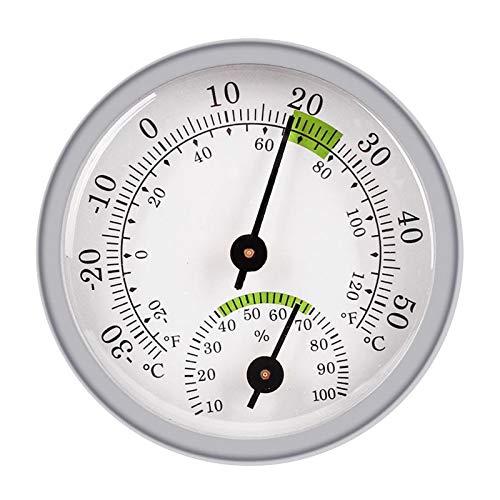 PETSOLA Medidor de Humedad Analógico Higrómetro Medidor de Temperatura Termómetro Montaje en Pared
