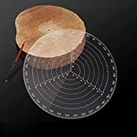 300 mm /12 Inch Round Center Finder Compass Clear Acrylic For Drawing Circles,Lathe Centering Tool Circle Gauge, Wood Turners Lathe Work (300 mm/12 Inch)