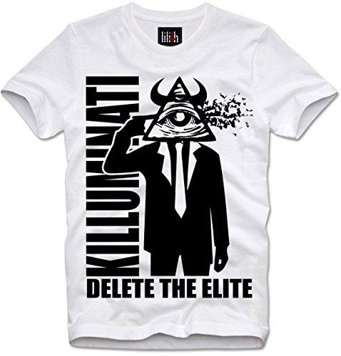 Lilith T-Shirt Delete The Elite Anti Illuminati Illuminaten NWO, L White