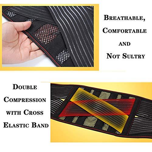 LSRRYD Adjustable Back Support Belt Back Support Brace Lumbar Support Brace for Pain Relief and Injury Prevention for Men (Color : Black, Size : Medium)
