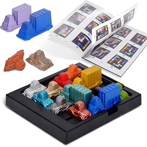 Xiton 1Set Rush Hour Toy Traffic Jam Logik Spiel Lernspielzeug Gehirn-Entwicklung Spielt Spielzeug Für Kinder Jungen Und Mädchen älter Als 3 Jahre Alt, Multicolor