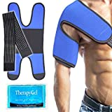 Envoltura con gel de hielo para el hombro Compresa fría para lesiones deportivas en el hombro,...