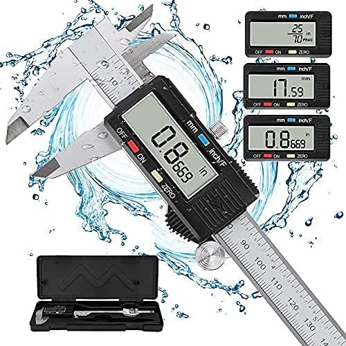 Calibro Digitale, POWERAXIS Calibro Digitale Professionale a Corsoio Elettronico Acciaio...