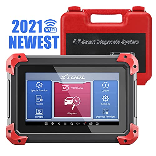XTOOL D7 Automotive Diagnostic Scan Tool, 2021 Newest Bi-Directional Control, OE All Systems Diagnostic, 28+ Services, Auto Bleed, Injector Coding, Key Programming, Oil Reset, EPB, DPF, BMS