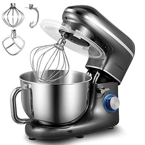 Robot Pâtissier, Cookmii 1500W Robot Pétrin Silencieux Robot de Cuisine Multifonctionn...