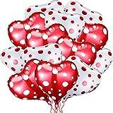 32 Palloncini Cuore Rosso e Bianco 18 Pollici Palloncini Foil di Cuore Palloncini Elio di Cuore Palloncini Mylar di Valentines Day per Valentines Day, Matrimonio, Decorazione di Fidanzamento