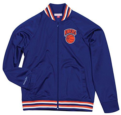 Mitchell & Ness–Gorra de la NBA New York Knicks hombre 'parte superior perspectiva Full Zip chaqueta para hombre, S