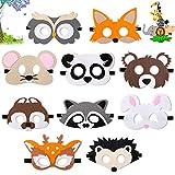Comius Sharp 10 Pièce Masques Animaux Halloween Masque Masque de Feutre Masques de Déguisement pour Enfants, pour Anniversaire Noël Mascarade Filles, Garçons et Enfants