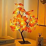 Coding LED Ahornblatt Baum Licht 24 LEDs Lichterbaum Schreibtisch Ahorn-Blätter USB-Aufladung LED...