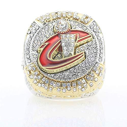 ZJL Anelli Maschili Europa e America, Cleveland Cavaliers 2016 Anno Championship Replica Ring Collezione Di Ventole Sportive Anello in Acciaio Inox, 9-13,1213