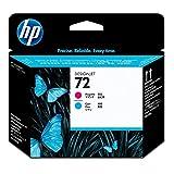 HP 72 Originaler DesignJet Druckkopf (C9383A) in Magenta & Cyan, für HP DesignJet T2300 eMFP, T1300, T1200, T1120, T1100, T1100 MFP, T795, T790, T770, T620, T610 & T600 Großformatdrucker