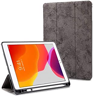 """ProElite Smart Pu Flip Case Cover for Apple Ipad 7Th Generation 10.2"""" with Pencil Holder, Grey"""