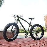 WellingA Erwachsenen MTB, 26' 7/24/27 Speed Faltbare Vollfederung Mountain Bike, Zwei Scheibenbremsen Fette Reifen Fahrrad, Großer Reifen MTB Fahrrad für Herren und Damen,009,24stage Shift