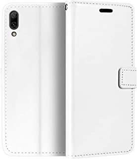 Huawei Enjoy 9 Wallet Case, Premium PU Leather Magnetic Flip Case Cover with Card Holder and Kickstand for Huawei Y7 Pro 2019