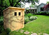 TIMBELA M312 Blockbohlen Gartenhaus aus Holz - Kiefer/Fichte Chalet- Flachdach - 130x180 cm