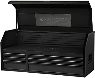 Husky Industrial 52 in. W x 21.2 in. D 6-Drawer Top Chest in Textured Black