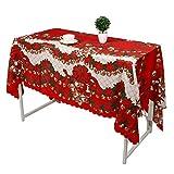Heayzoki Mantel navideño, Mantel, poliéster para Festivas navideñas para la mayoría de Las mesas de tu hogar(F Bells)