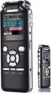 Professional Digital Voice Recorder, 32G,Continuous Recording for 100 Hours, Professional-Grade PCM 1536Kbps, Omnidirectional Dual Microphone Noise Reduction