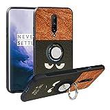 Funda para OnePlus 7 Pro,Fashion Design [Antigolpes] con 360 Anillo iman Soporte, Resistente a los arañazos TPU Funda Protectora Case Cover para OnePlus 7 Pro,Do Not Touch