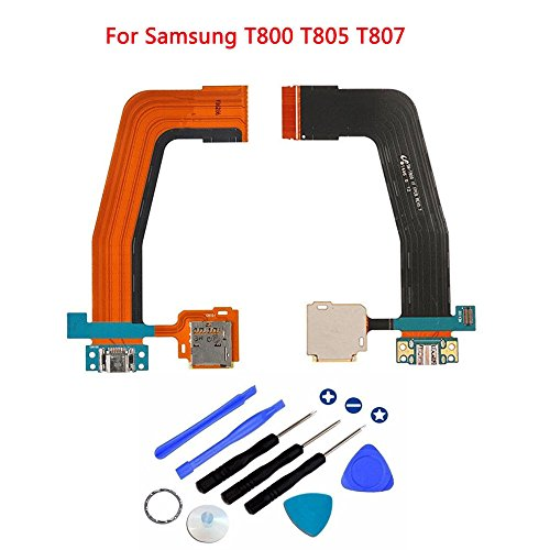 Eaglewireless Dock Connector Charger Flex Ribbon Cable with Memory Card Tray Replacement for Samsung Galaxy Tab S 10.5 SM-T800 T801 T805 T807
