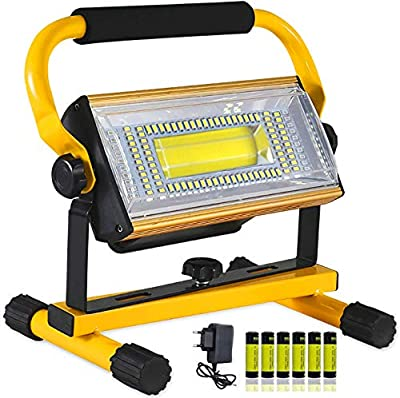 OPATER Portable Rechargeable LED Work Light 100W,8000LM Super Bright Waterproof LED Flood Lights for Outdoor Camping Hiking Emergency Workshop Job Site Lighting