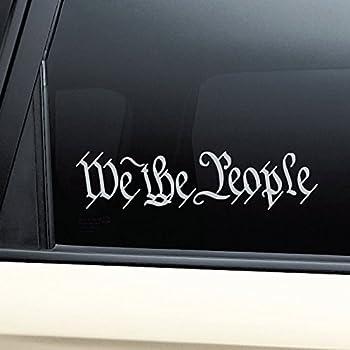 Nashville Decals We The People United States Constitution Vinyl Decal Laptop Car Truck Bumper Window Sticker - Gray