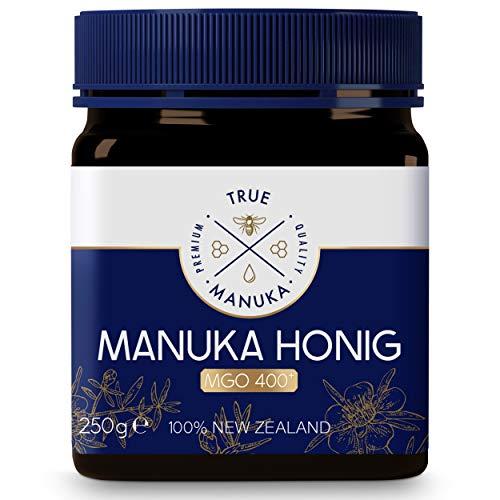True Manuka - Manuka Honig 400+ MGO 250g - 100% Pur aus Neuseeland - Mit zertifiziertem Methylglyoxal Gehalt