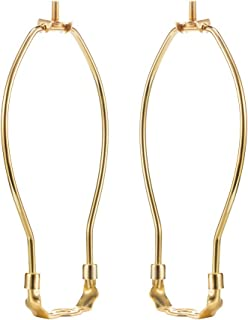 2 PCS Lamp Harp Holder Lamp Shade Harp for Table and Floor Lamps, Gold Chrome Color