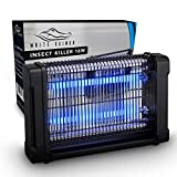 White Kaiman Indoor Bug Zapper - 4000V & 16W UV Light Electric Mosquito Killer and Indoor Insect Light Powerful and Designed w/ Style