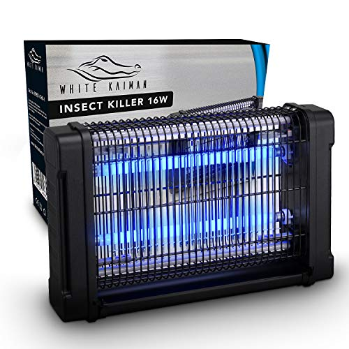 White Kaiman Indoor Bug Zapper - 16W UV Light Electric Mosquito Killer Insect Repellent for Indoors