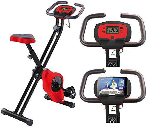 PEARL sports Ergometer: Schwungmasse-Heimtrainer HT-516 mit Notebook- / Tablet-Halter bis 14