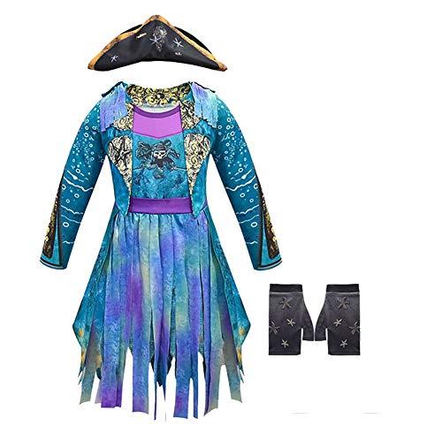 Descendants 3 Disfraz, Disfraz de dragn Mal Audrey Carlos Evie Jay Celia Disfraz Vestido con Peluca Traje de Cosplay Mono para Fiesta de Halloween