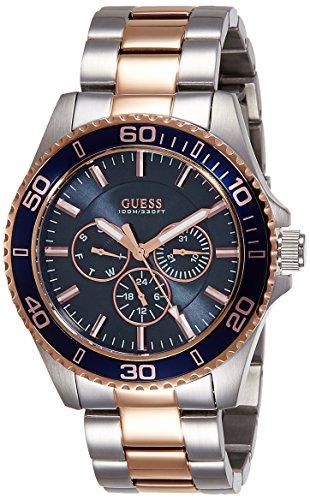 Guess, W0172G3, Orologio da uomo, al quarzo, display analogico, cinturino in acciaio INOX, colore argento