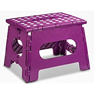 Folding Step Stool – The Lightweight Step Stool is Sturdy Enough to Support Adults and Safe Enough for Kids. Opens Easy…