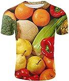 NAMAMI Vegetable 3D T-Shirt Eggplant Tshirt Fruit Men Casual Funny Short Sleeve Tops,1883w,XX-Large