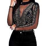 Lrady Sexy Women's Gold Studs Bodysuit Jumpsuit Romper Clubwear Black...